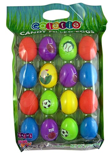 Sports Candy Filled Eggs for Easter Egg Hunt, 16 count