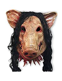 XY FANCY Halloween Funny Mask,Super Adorable Pig Head Mask Latex Animal Costume Toys