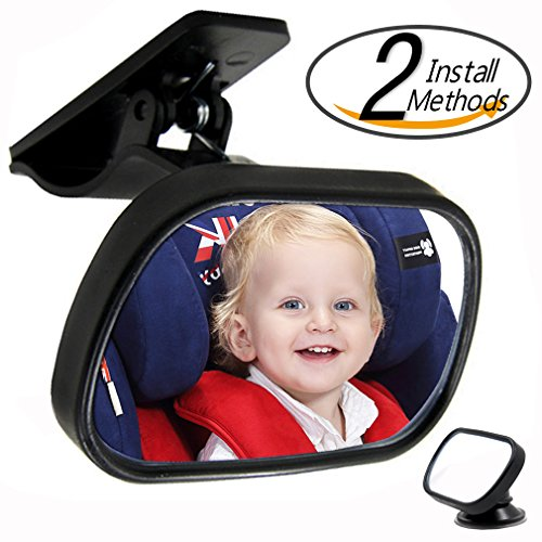 Child Rear View Mirror (Pnbb Shatterproof Baby Seat Mirror, Easily Watch Your Baby with Clear View and Adjustable Rotation)