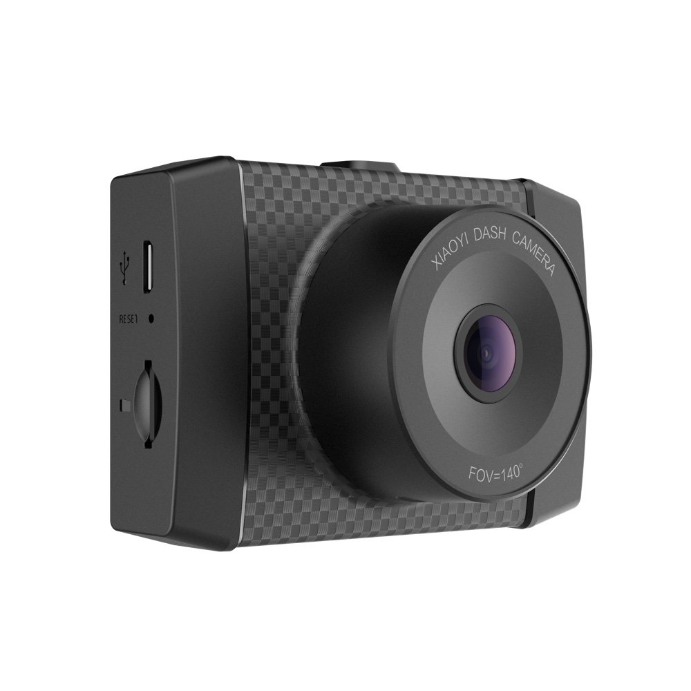 YI 2.7K Ultra Dash Cam with 2.7'' LCD Screen, 140° Wide Angle Lens, Dual-Core Processor, Voice Control, MEMS 3-axis G-Sensor, and Night Vision (Micro SD Card and Car Charger Included)