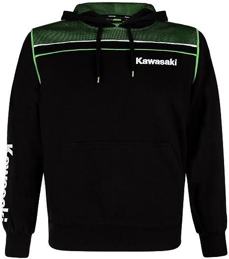 Kawasaki - Pull - Homme noir Noir/vert: Amazon.