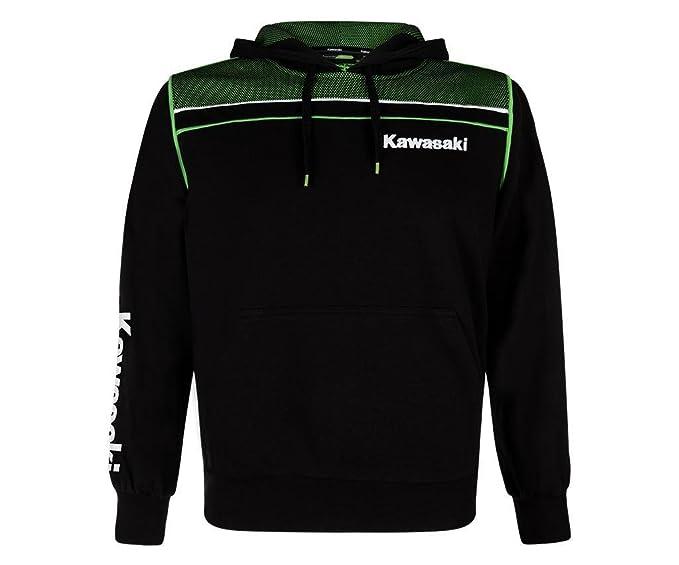 Kawasaki Sports Sudadera con Capucha Jersey Negro Verde
