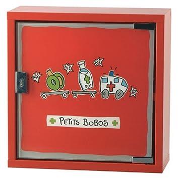 Derriere La Porte Armoire A Pharmacie Petits Bobos Rouge