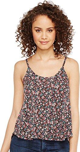 Roper Floral Shirt - Roper Women's 1120 Mini Floral Print Knit Swing Tank Top Black Tank Top