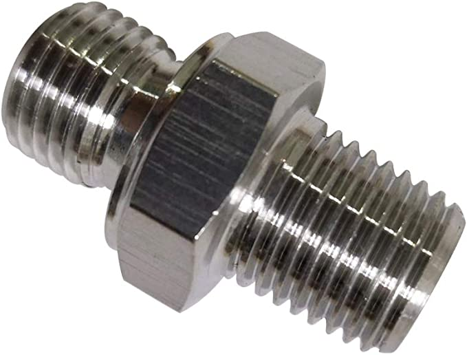Male to Male Hex Nipple Threaded Pipe Fitting NPT Stainless Steel SUS304 1//2