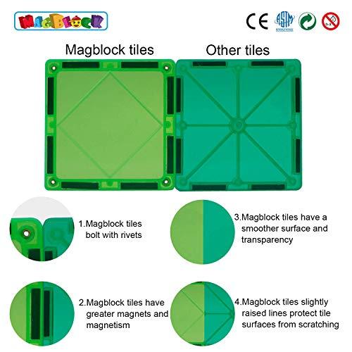Magblock 115 PCS Magnetic Blocks, Magnetic Tiles Building Blocks for Kids Toy,Magnet Toys Set 3D Building Blocks for Toddler Boys and Girls by Magblock (Image #2)