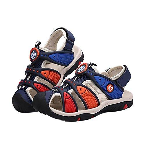 Meijunter Sommer Kinder Jungen Colorful HohlStrand Sandale Casual Sport Walking Schuhe Blue