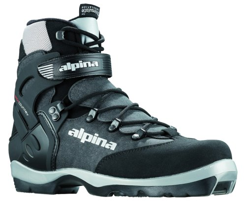 Alpina BC-1550 Back-Country Nordic Cross-Country Ski Boots, for use with NNN-BC Bindings, Black/Silver, 48 ()