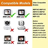 For Motorola Baby Monitor Charger Power Cord Replacement Adapter Compatible with Monitor Parent Unit MBP33S MBP36S MBP38S MBP41S MBP48 MBP482 MBP33SBU MBP33SPU MBP36SBU MBP36SPU, 5.0V Micro Port 6.6Ft