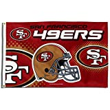 49ers license plate frame bling - Rico NFL San Francisco 49ers 3-Foot by 5-Foot Single Sided Banner Flag with Grommets