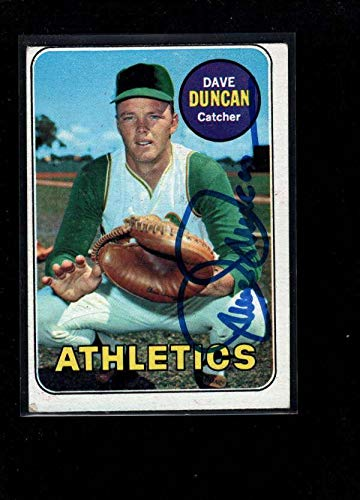 1969 Topps #68 Dave Duncan Authentic On Card Autograph Signature Ax6995 - Baseball Slabbed Autographed Cards ()