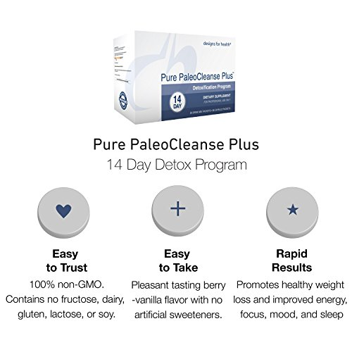 Designs for Health - Pure PaleoCleanse Plus 14 Day Detox Program - Bone Broth Protein + Green Tea + Alkalizing Vegetables for Liver Support, 28 Packs by designs for health (Image #1)