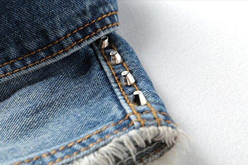 b3f21a2b16dc79 ... Cystyle Neue Damen BF Löcher Denim Weste Jacke Ärmellos Einfache  Beiläufige Jeansweste Blau 26ikf ...