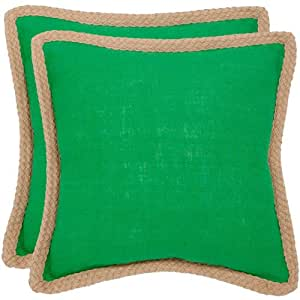 Safavieh Pillows Collection Sweet Sorona Decorative Pillow, 18-Inch, Green, Set of 2