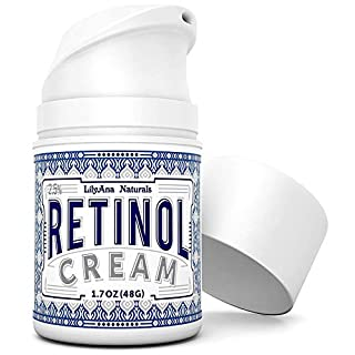 LilyAna Naturals Retinol Cream for Face - Retinol Cream, Anti Aging Cream, Retinol Moisturizer for Face, Wrinkle Cream for Face, 2.5% Retinol Complex - 1.7oz
