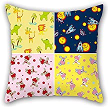 Elegancebeauty The Color Block Pillowcase Of 18 X 18 Inches / 45 By 45 Cm Decoration Gift For Christmas Indoor Monther Kids Boys Bar Office (both Sides)