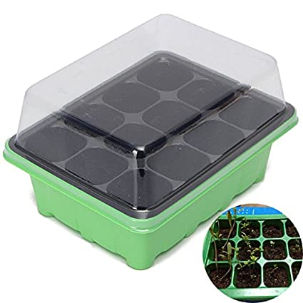 Amazon com : supplies vegetable-seed starting trays-plastic tray-12