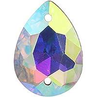 Anrux, 50 piezas, lágrimas para coser en diamantes