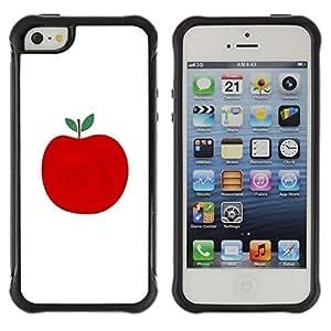 Fuerte Suave TPU GEL Caso Carcasa de Protección Funda para Apple Iphone 5 / 5S / Business Style Autumn Fall Apple Minimalist White Fruit