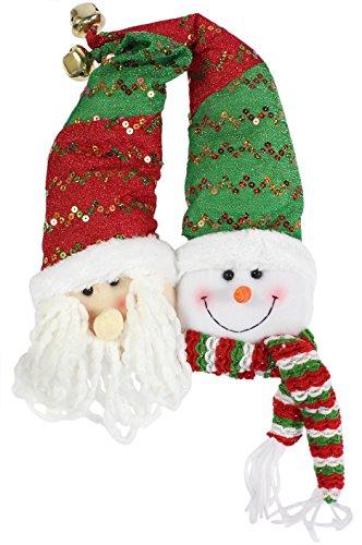 - Darice 2-Piece Assorted Snowman and Elf Door Hangers, 14-Inch