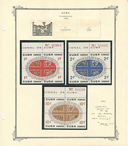 Island Plate Block (Caribbean Island Christmas Plate Blocks 1960, #648-662 Mint NH VF)