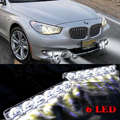 New-2X-6-LED-Car-Running-Light-DRL-Daylight-Kit-Super-White-12V-DC-Head-fog-Lamp