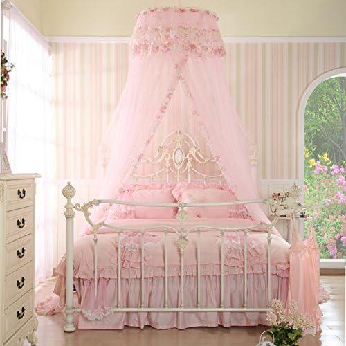 ベッドキャノピーMosquito Net for Crib、ツイン、フル、クイーンまたはキングサイズベッド、旅行キャンプイベント 135x200cm(53x79inch) ピンク ENDOSHDOG