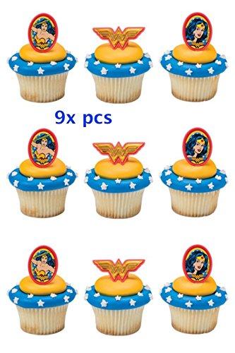 Amazon Com Cakepicke Wonder Women Cake Toppers Wonder Woman Amazing