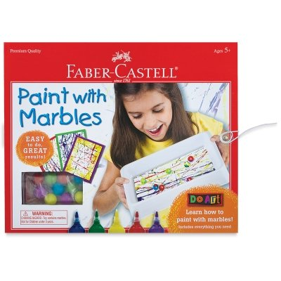 Faber Castell Do Art Paint with Marbles - Abstract Art Painting Set for Kids