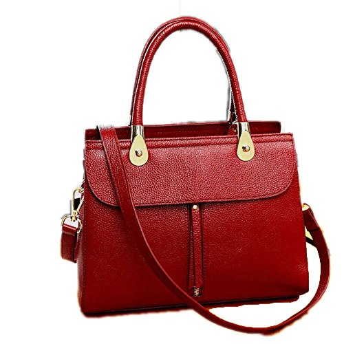 Zm Bag 2018 New Leather Handbags Europe And The United States Fashion Shoulder Bag Ladies Messenger Bag Leather Bag Red