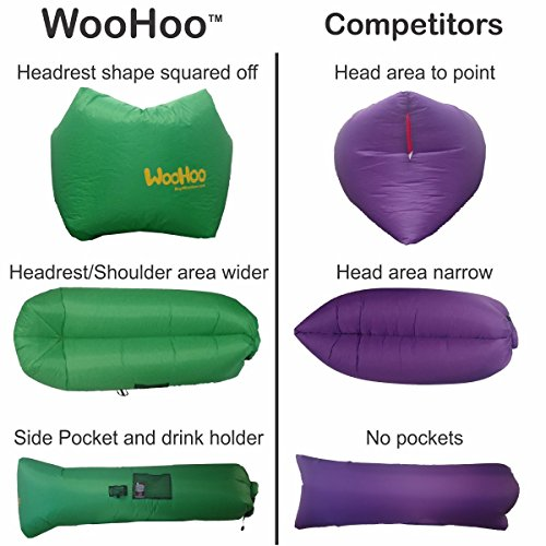 Woohoo Inflatable Lounger Air Filled Balloon Furniture