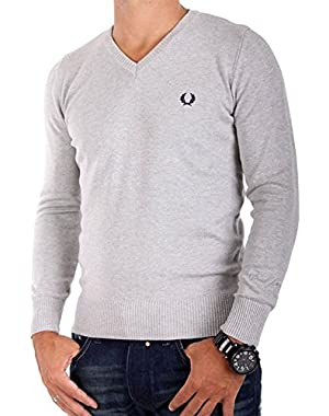Men's V-Neck Long Sleeve Jumper M9256