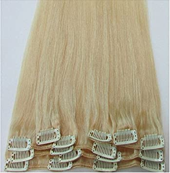 Amazon dreambeauty european hair extensions human hair light dreambeauty european hair extensions human hair lightbleach blonde color 613 clip in hair pmusecretfo Choice Image