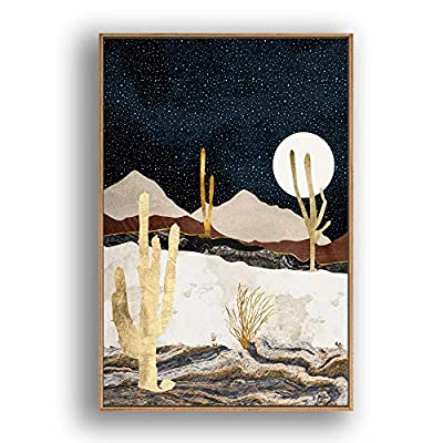 Framed Canvas Home Artwork Decoration Nordic Style Scenery Canvas Wall Art for Living Room, Bedroom - 16x24 inches