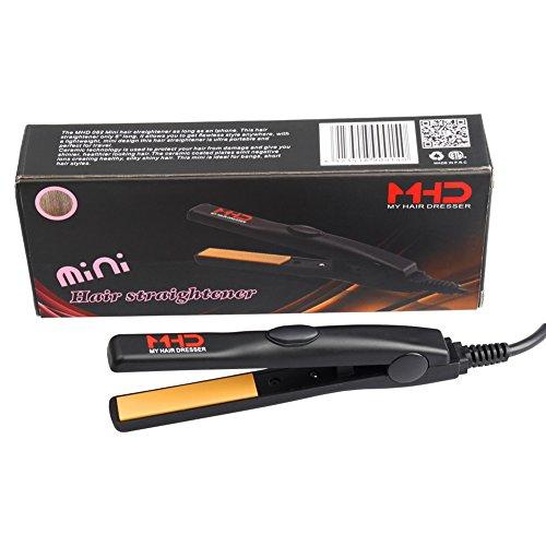 MHD Mini plancha de pelo de cerámica Hierro 0,5 pulgadas planos para el recorrido o niños de temperatura constante de 180 ℃ peso ligero