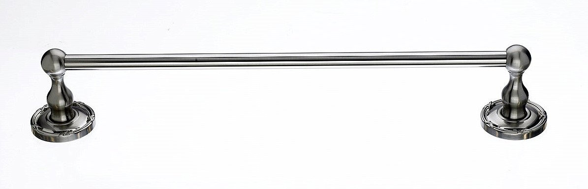 トップノブed6eエドワードBath 18インチタオルバー単一リボンバックプレート、 ED6BSNE B00CMU9Q1Kつや消しサテンニッケル
