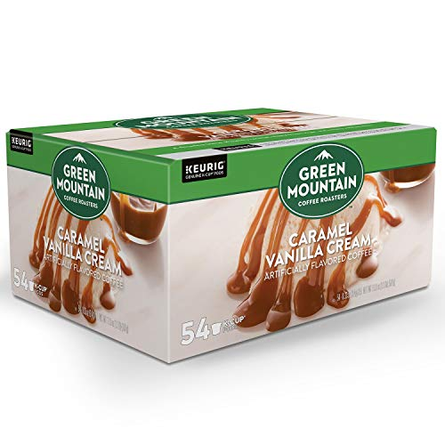 Green Mountain Coffee, Caramel Vanilla Cream (54 K-Cups) Net wt 17.9 oz, Caramel Vanilla Cream, 17.9 Ounce (Green Mountain Caramel Vanilla Cream K Cups)