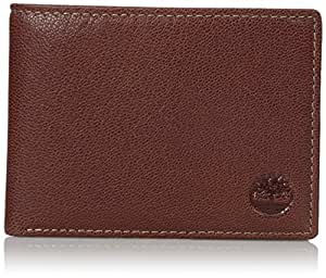 Timberland Men's Genuine Leather RFID Blocking Passcase Security Wallet, Brown, One Size