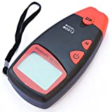 LotFancy MD-812 Digital Moisture Meter for Wood Sheetrock Flooring Firewood and More, 2-Pin Type, Large LCD Display