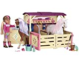 Battat Glitter Girls by All Asparkle Acres Riding Stable Set – Accessory set for 14-inch horses – 14-inch Doll Accessories and Clothes for Girls Age 3 and Up – Children's Toys