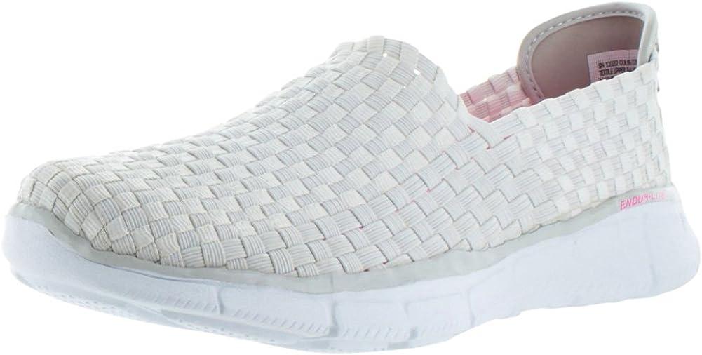 Skechers - Zapatillas de Running de Malla para Mujer Blanco Blanco: Amazon.es: Zapatos y complementos