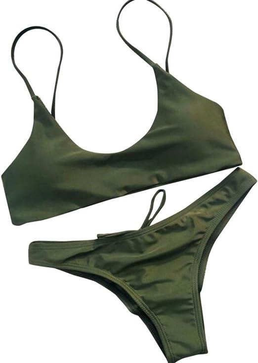 hositor Swimsuits for Women,Womens Print Push-Up Padded Bra Beach Bikini Set Beachwear Swimwear
