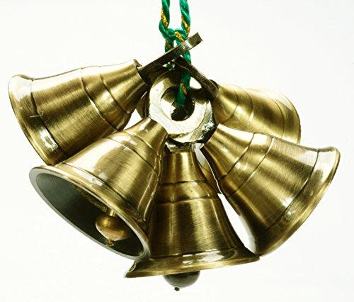Lot 6 Pcs Brass Bells Antique Finish 1.6