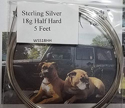 18 Gauge Sterling Silver Half Hard Wire Round - 5 Feet From RawTreasures ()