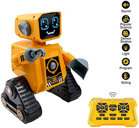 Haite Robot Toy Educational Constructional RC Toys Robotics for Kids Science Knowledge Sing Speak Walk Slide Best Partner for Children