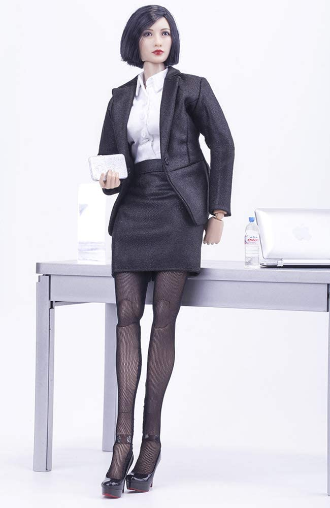 Stockings Outfit for 12 Female Action Figure Phicen,TBLeague CM007 Jacket Blouse B HiPlay 1//6 Scale Female Figure Doll Clothes Skirt Handmade Full Suit