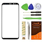 CrazyFire Compatile Samsung Galaxy S8 Plus Screen Lens Glass Replacement Kit,Front Outer Lens Glass Screen with Adhesive for Samsung S8 Plus G955(All Cellular and Wireless Carriers) 6.2 inch(Black)