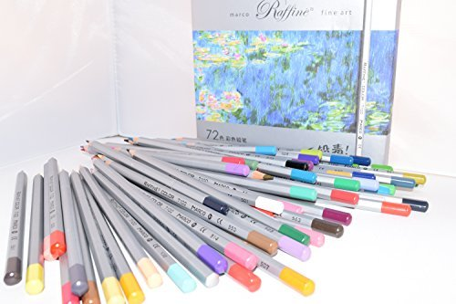 Raffine 72 Colors Marco Fine Art Drawing Oil Base Pencil Set Fr Artist Sketch