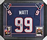 Texans J.J. Watt Authentic Signed & Framed Blue Jersey Autographed JSA Witness
