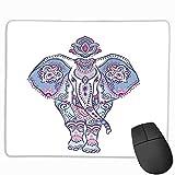 Mouse pad with Wrist Support Cute,Elephant Mandala Paisley Ethnic Lotus Flowers Leaves Symbol